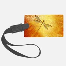 Golden dragonfly Luggage Tag