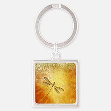 Golden dragonfly Keychains