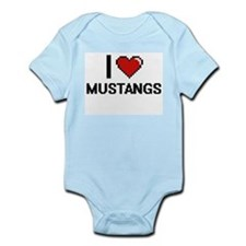 I Love Mustangs Body Suit