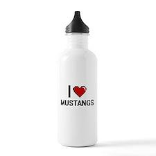 I Love Mustangs Water Bottle