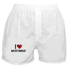 I Love Mustangs Boxer Shorts