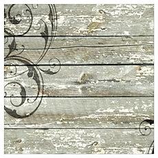 swirls primitive barn wood Poster