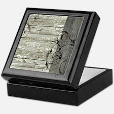 swirls primitive barn wood Keepsake Box