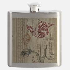 seashells tulip french botanical  Flask
