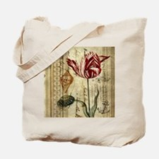 seashells tulip french botanical  Tote Bag