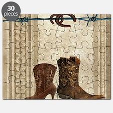 primitive western cowboy boots Puzzle