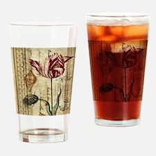 seashells tulip french botanical  Drinking Glass