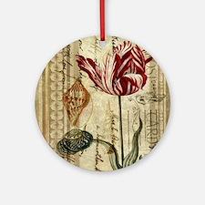 seashells tulip french botanical  Round Ornament