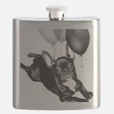 Party French bulldog Flask