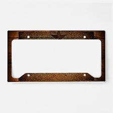 burlap barn wood texas star  License Plate Holder