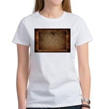 burlap barn wood texas star T-Shirt