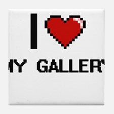 I Love My Gallery Tile Coaster