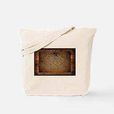 burlap barn wood texas star Tote Bag