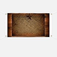 burlap barn wood texas star Banner