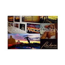 Ruben's World Gallery Rectangle Magnet