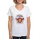 Saavedra Family Crest Women's V-Neck T-Shirt
