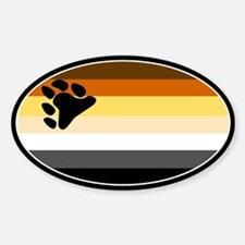 Cute Gay bear Sticker (Oval 10 pk)