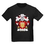 Saavedra Family Crest Kids Dark T-Shirt