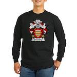 Saavedra Family Crest Long Sleeve Dark T-Shirt