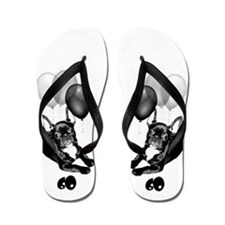 60th Birthday French Bulldog Flip Flops