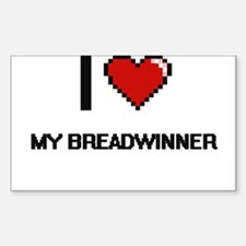 I Love My Breadwinner Decal