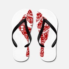 Gamer fist revolution Flip Flops