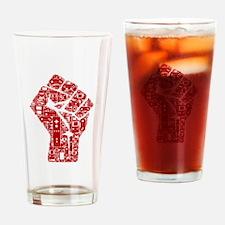 Gamer fist revolution Drinking Glass