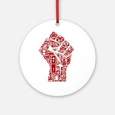 Gamer fist revolution Round Ornament