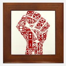 Gamer fist revolution Framed Tile