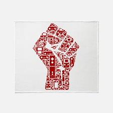 Gamer fist revolution Throw Blanket