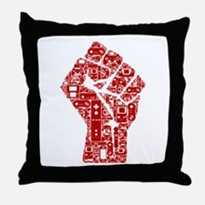 Gamer fist revolution Throw Pillow