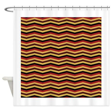 Garnet And Gold Chevron Shower Curtain By ADMIN CP16458386