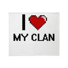 I love My Clan Throw Blanket
