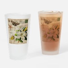 french botanical white lily Drinking Glass