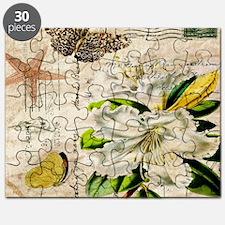 french botanical white lily Puzzle