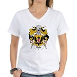 Rubi Family Crest Women's V-Neck T-Shirt