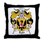 Rubi Family Crest Throw Pillow