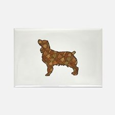 Brown Dog Fall Rectangle Magnet