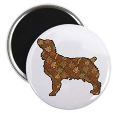 Brown Dog Fall Magnet