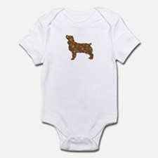 Brown Dog Fall Infant Bodysuit