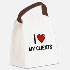I love My Clients Canvas Lunch Bag