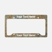 Custom Rusty License Plate Holder