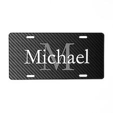 Monogram Carbon Aluminum License Plate