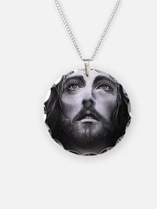 Jesus Necklace Circle Charm