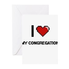 I love My Congregation Greeting Cards
