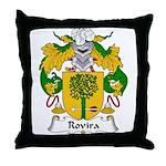 Rovira Family Crest Throw Pillow