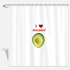 I Love Heart Avocados Guillermo's Shower Curtain