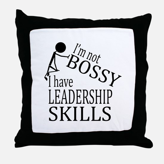 I'm Not Bossy | I Have Leadership Ski Throw Pillow
