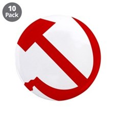 """Hammer and Sickle 3.5"""" Button (10 pack)"""