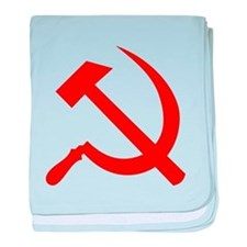Hammer and Sickle baby blanket